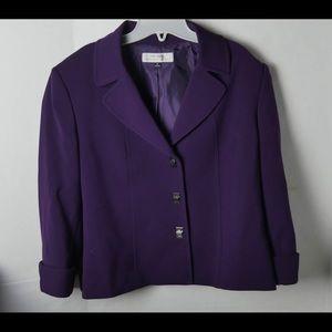 Tahari Arthur S. Levine Jackets & Coats - Tahari Arthur S. Levine Purple Blazer Size 16